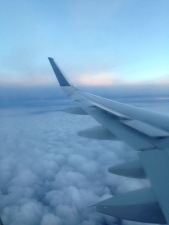 Soaring over the clouds on the way back to Santa Clara.