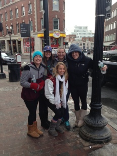 Susan Providenza, Sydni Estrella, Cathy Cantoni, Ashley Letrich and Ashleigh Bandimere touring Boston!