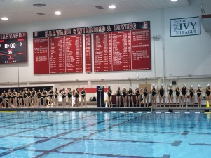 Player introductions before the Harvard game!