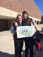 Jenny Anderson and her east coast fan!
